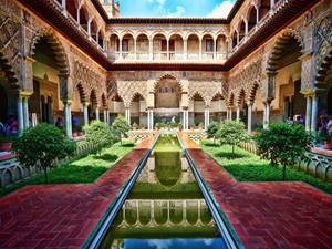 The Alcazar in Seville, Andalucia