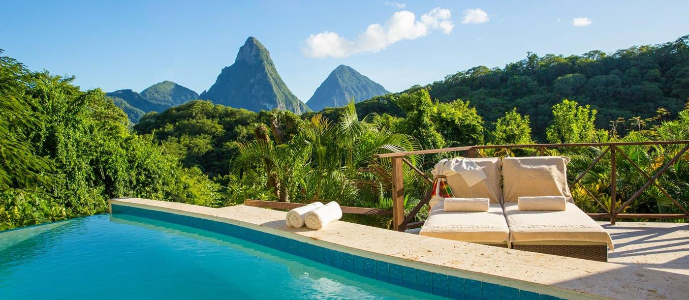 The view from the Casaurina Pool Suite at Anse Chastanet, St Lucia