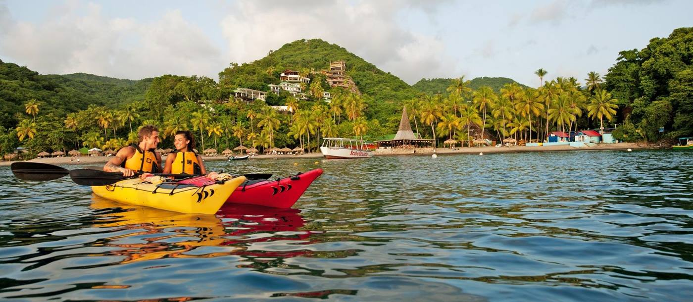 Kayaking at Anse Chastanet, St Lucia