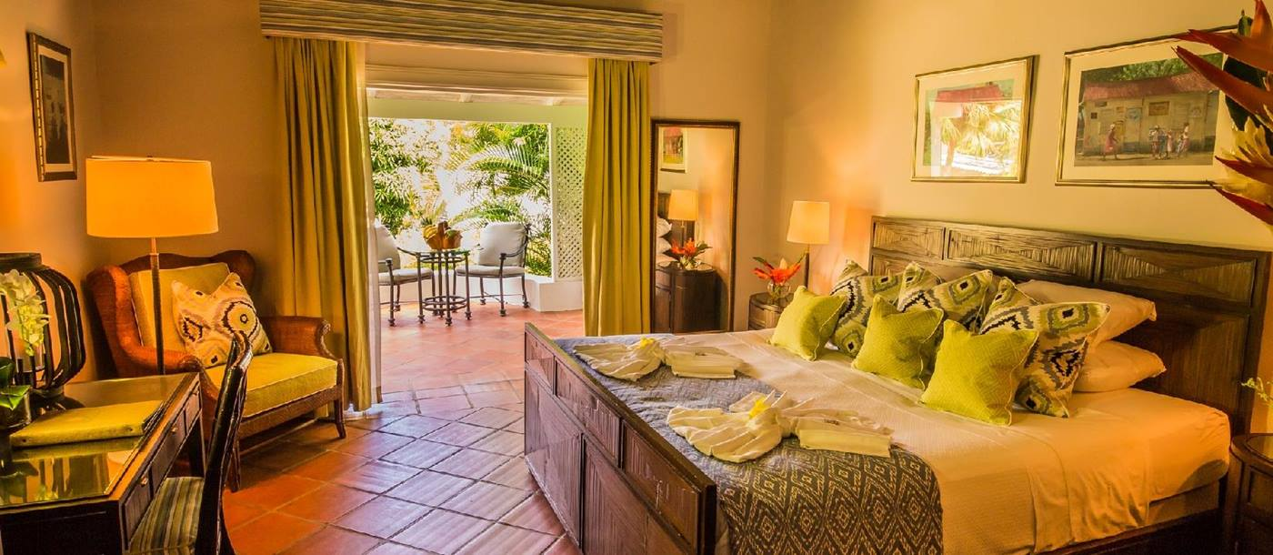 Deluxe cottage interiors at East Winds, St Lucia