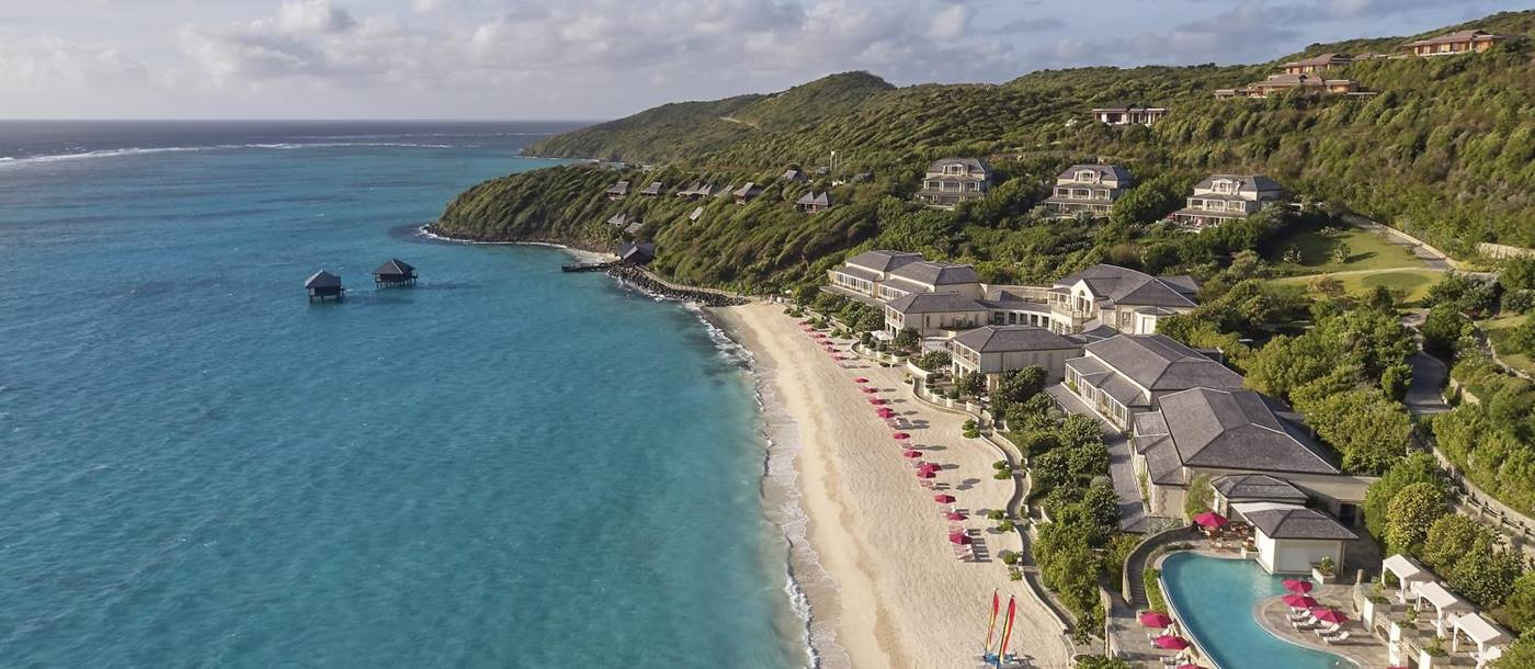 Aerial View of the Mandarin Oriental Canouan