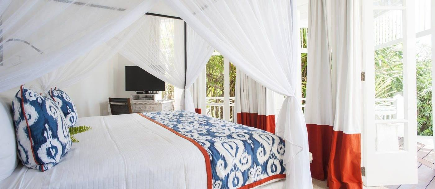 Bedroom at The Cotton House, Mustique