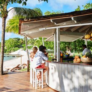 Beach bar at The Cotton House, Mustique