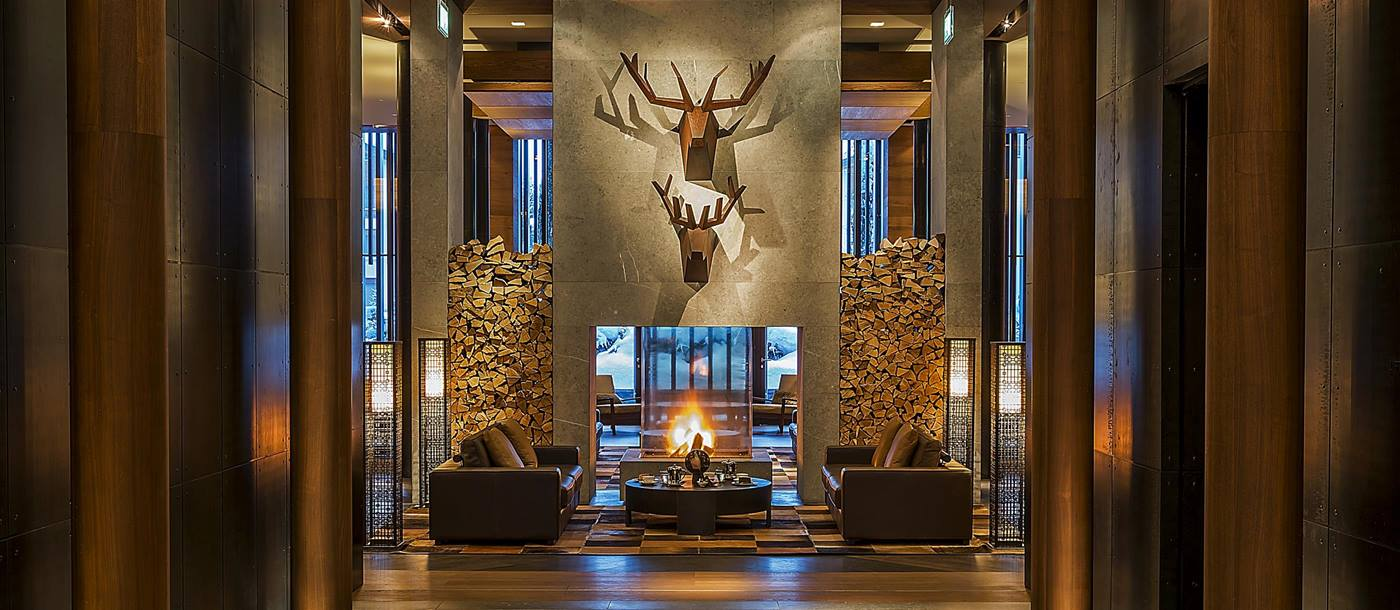 Entrance of Chedi Andermatt, Switzerland