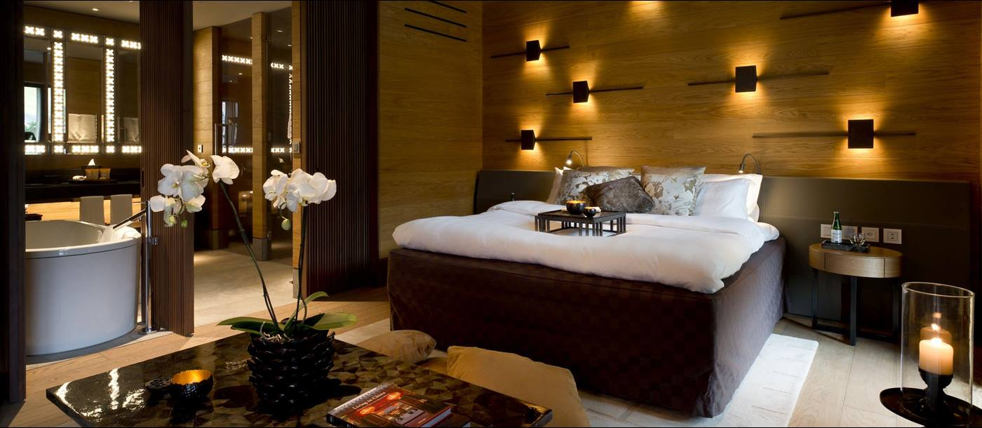 Grande Deluxe room in Chedi Andermatt, Switzerland