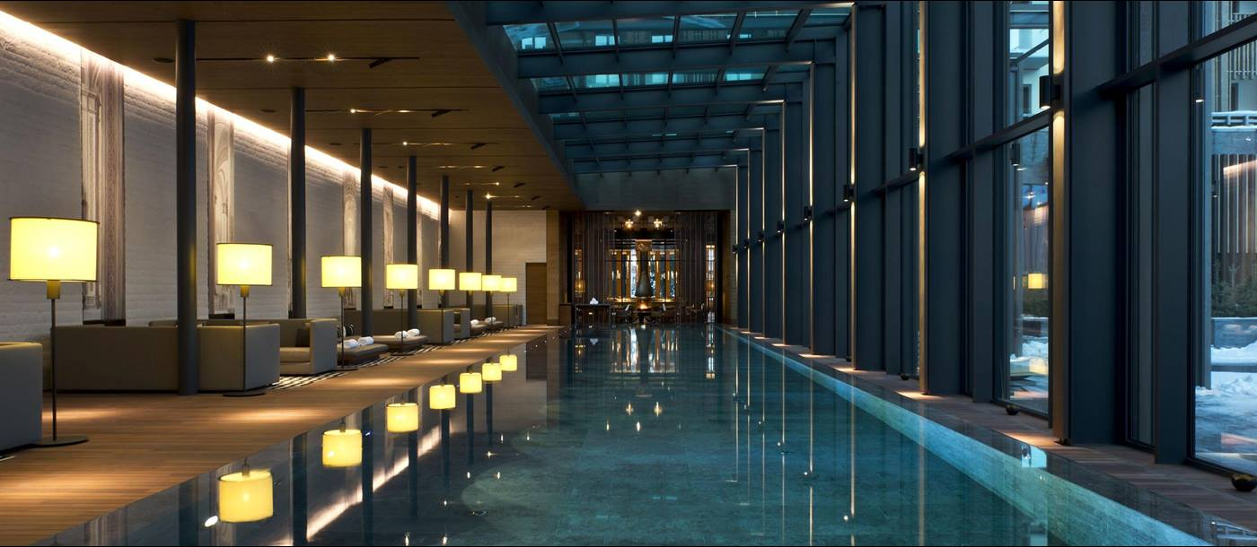 Swimming pool in Chedi Andermatt, Switzerland