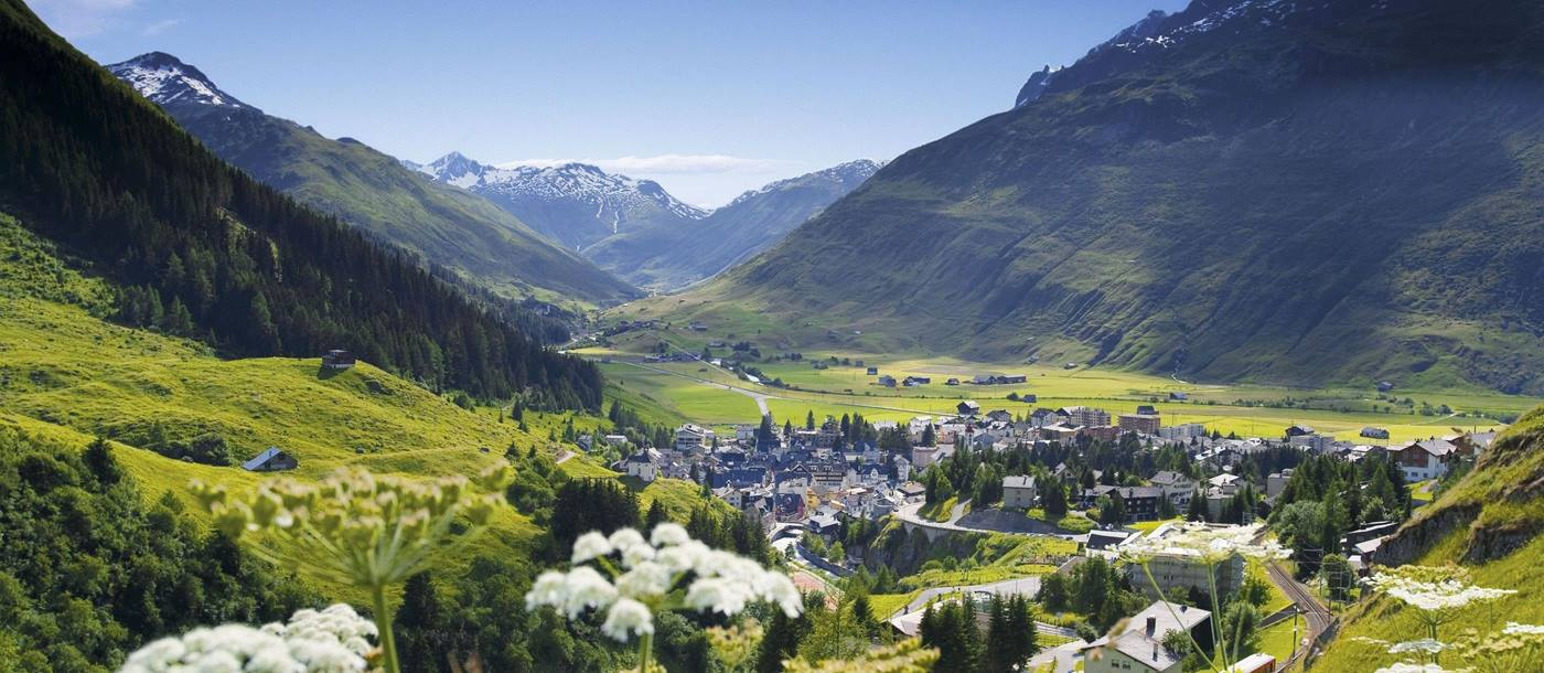 Summer landscape near Chedi Andermatt, Switzerland