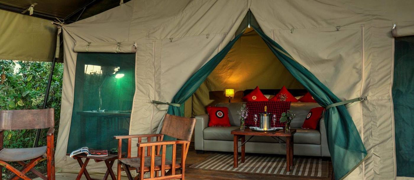 Double tent at Lemala Ngorongoro Tented Camp in Tanzania