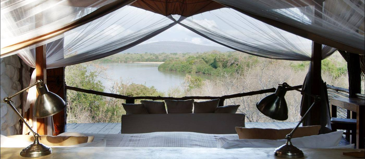 View from bedroom at Sand Rivers Selous in Tanzania