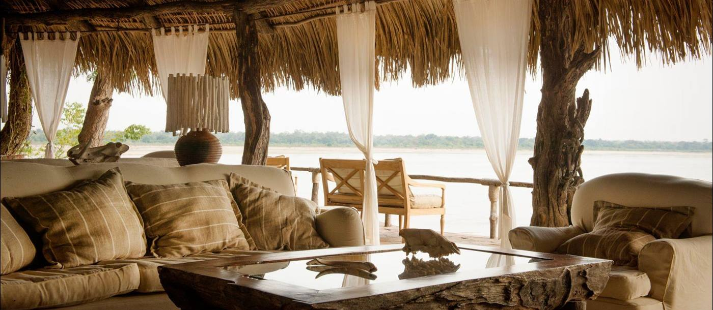 View from sitting area at Sand Rivers Selous in Tanzania