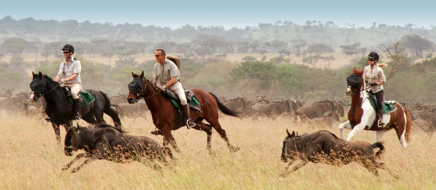 A riding safari at Singita Grumeti