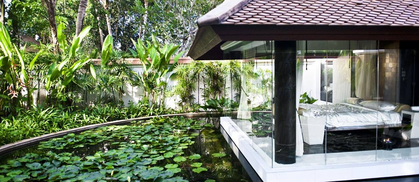 pond of a spa pool villa banyan tree phuket, thailand