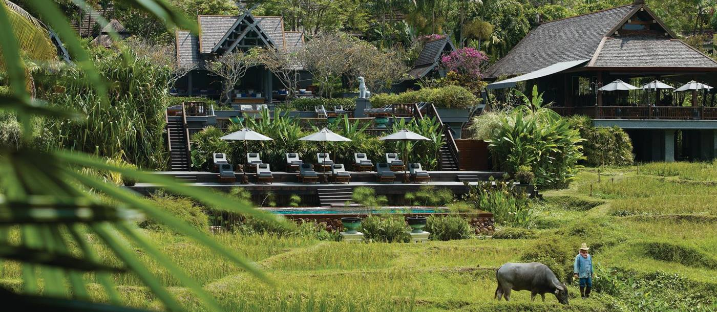 exterior of four seasons chang mai, thailand