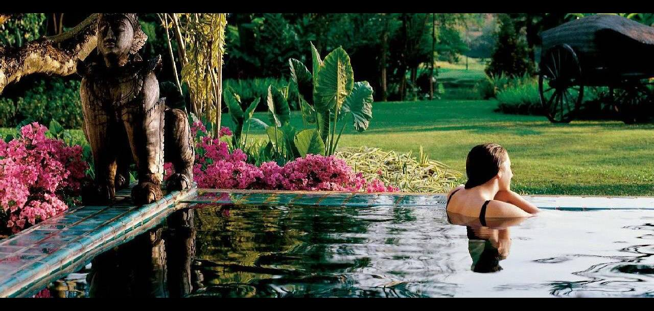 plunge pool at  four seasons chang mai, thailand
