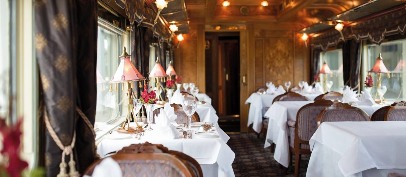 Fine Dining Carriage on Eastern and Oriental Express