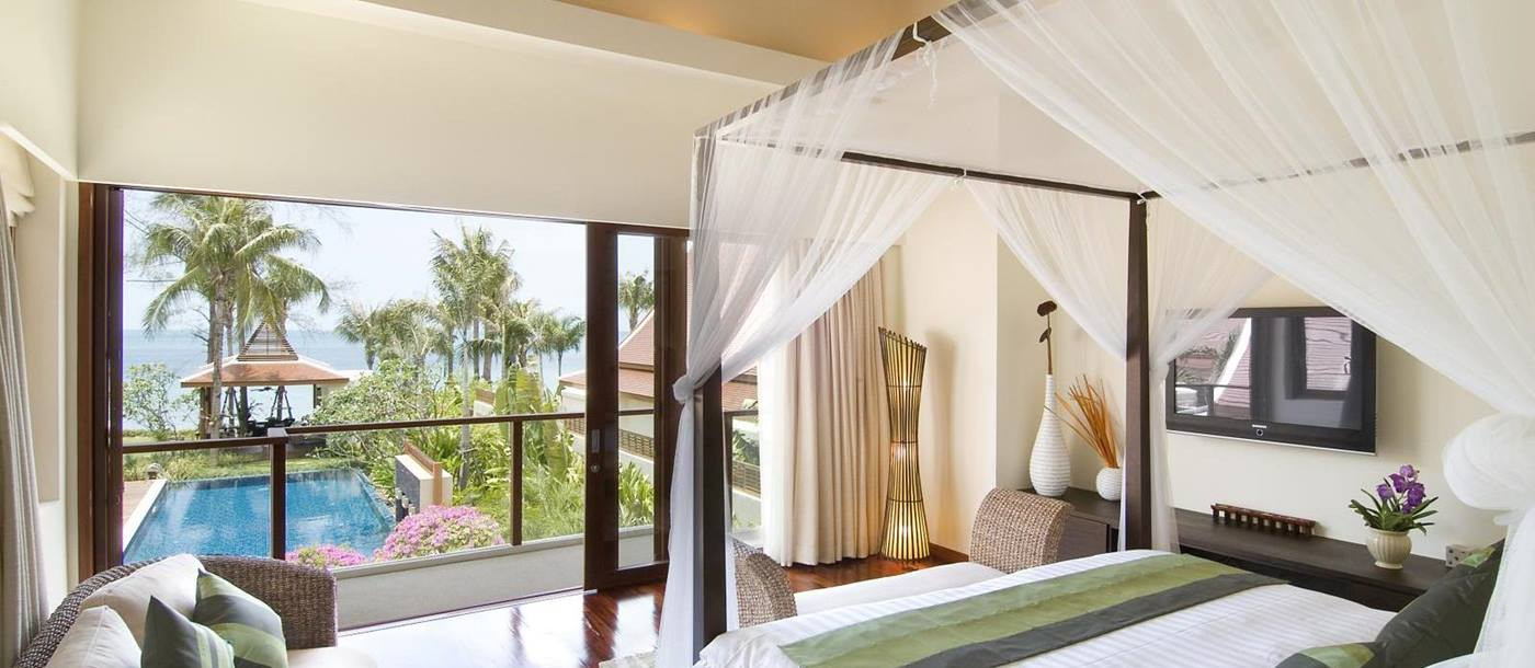 open double bedroom in baan samlarn, thailand