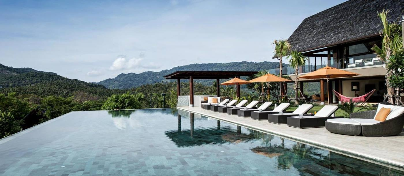 swimming pool of praana residence, thailand