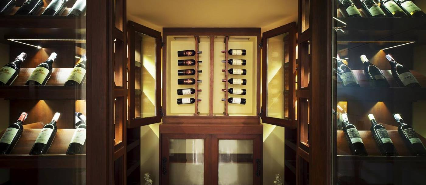 wine cellar of praana residence, thailand