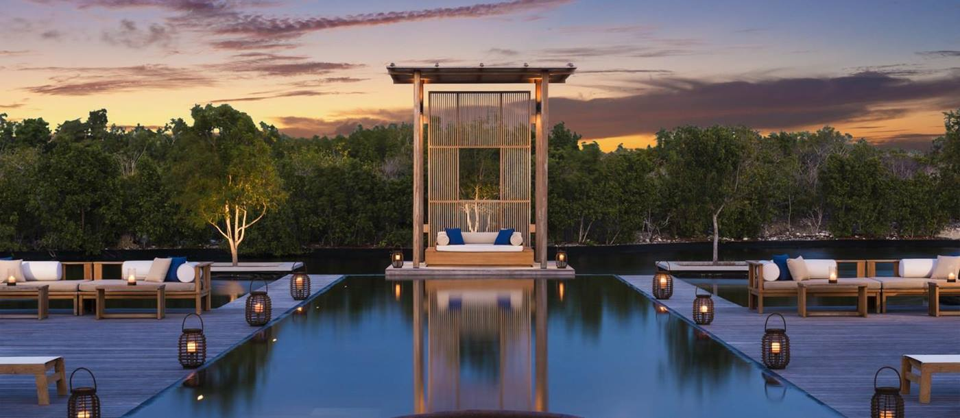 Swimming pool and deck of the Tranquility Villa at Amanyara, Turks and Caicos Islands