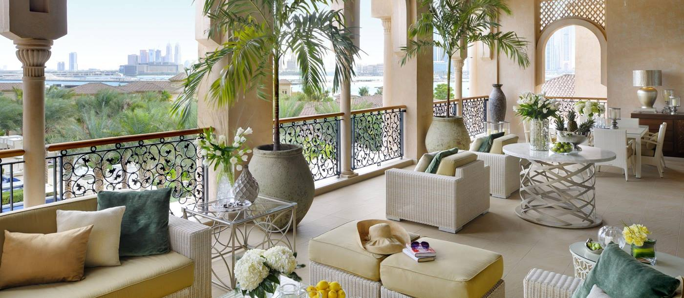 The terrace at the One Only The Palm in Dubai