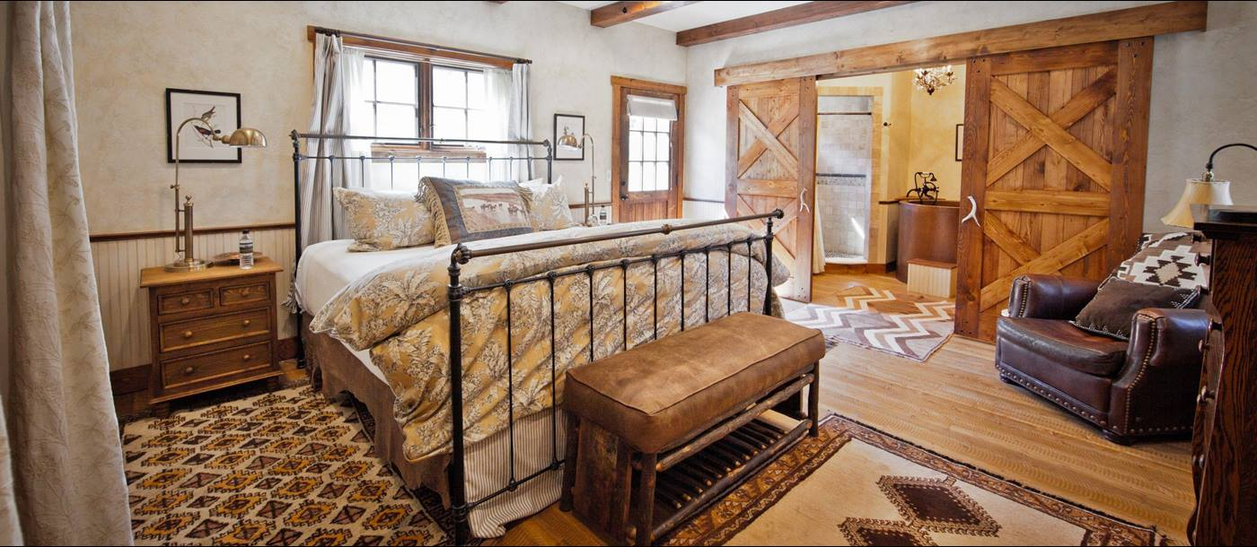 The master bedroom in Ranch at Rock Creek, USA