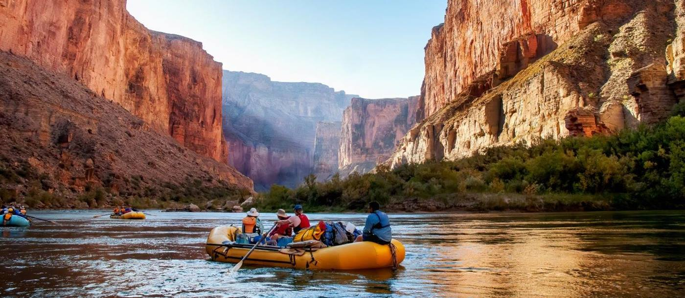 Rafting along the Colorado River in Utah USA