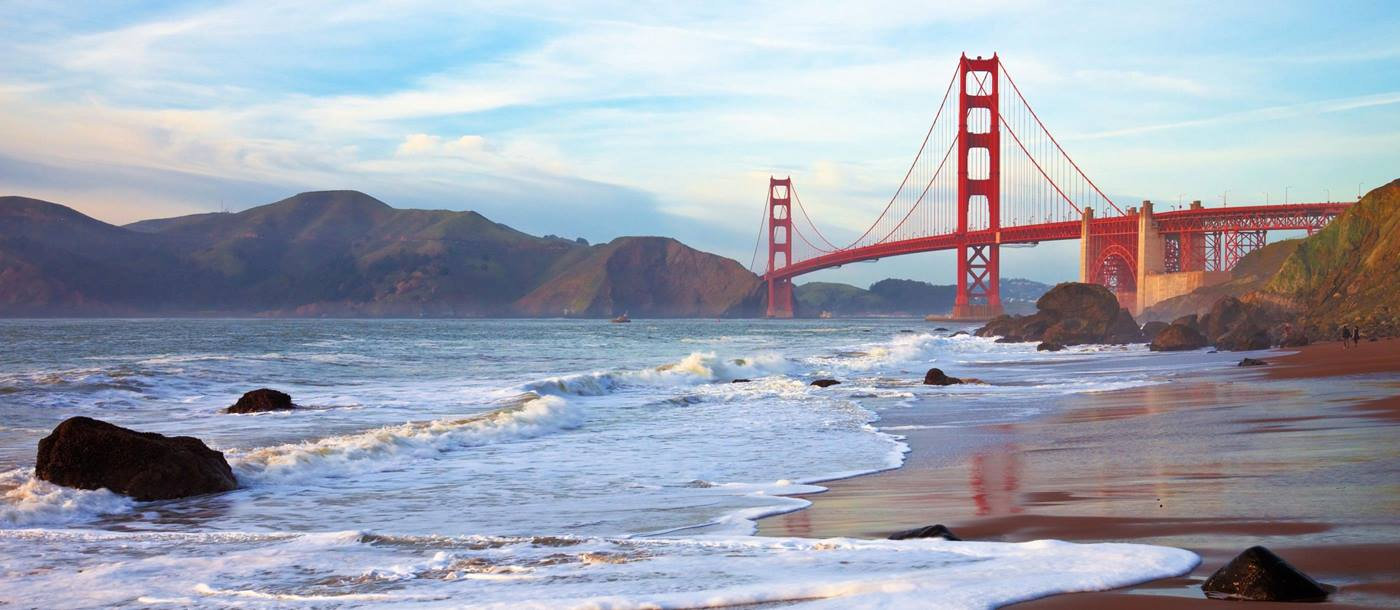 The Golden Gate Bridge in San Francisco, California USA