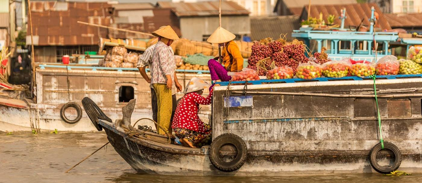 The floating markets on the Mekong