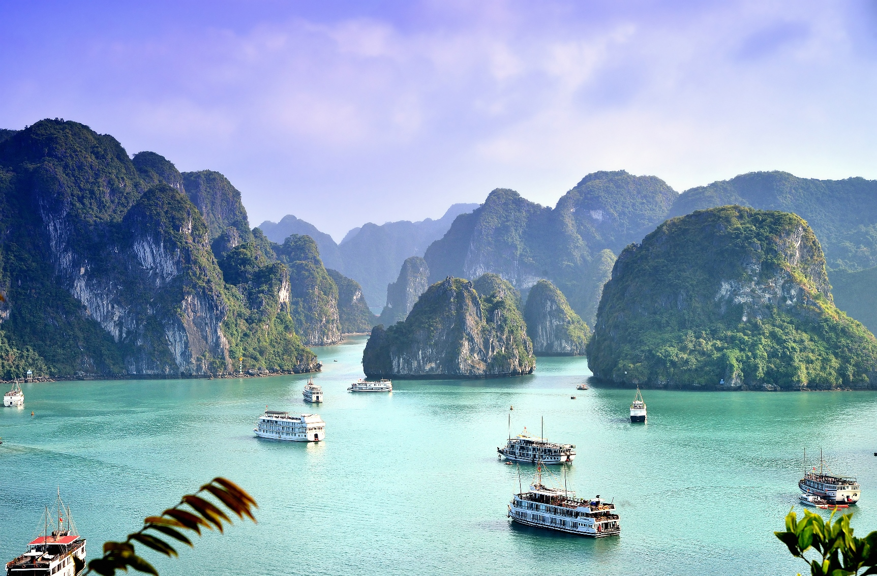 Ships in Halong Bay