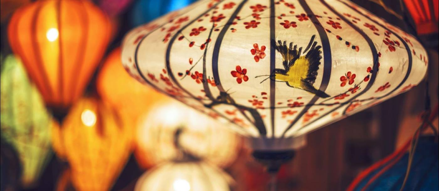 Colourful lantern at Vietnamese market