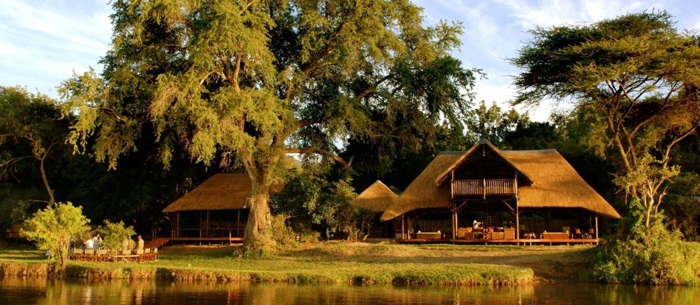 Exterior view of Chiawa Camp in Zambia