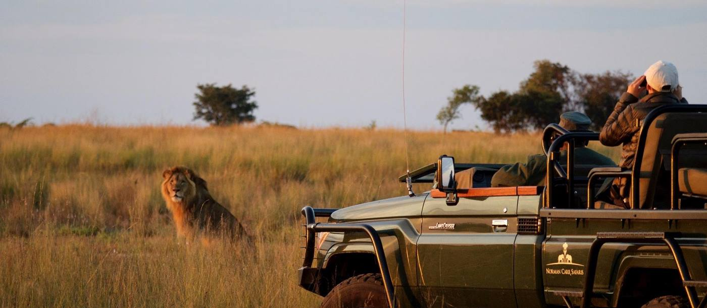 On a game drive with King Lewanika Lodge