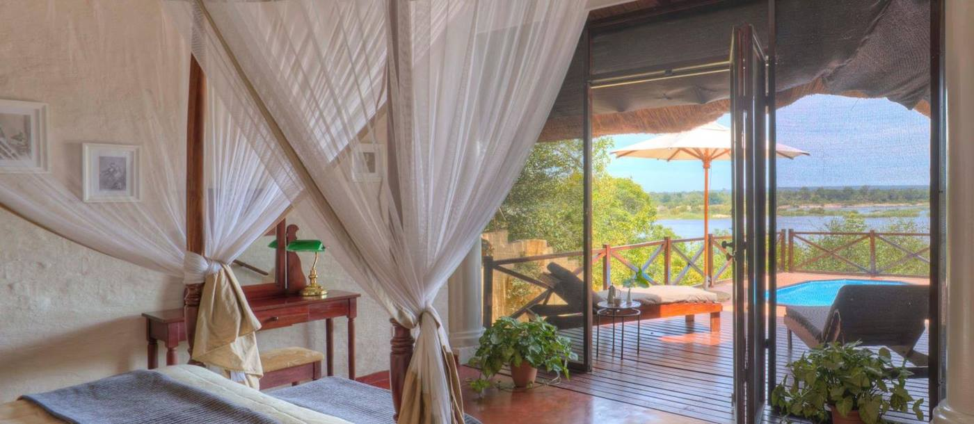 Luxury river suite at The River Club in Zambia