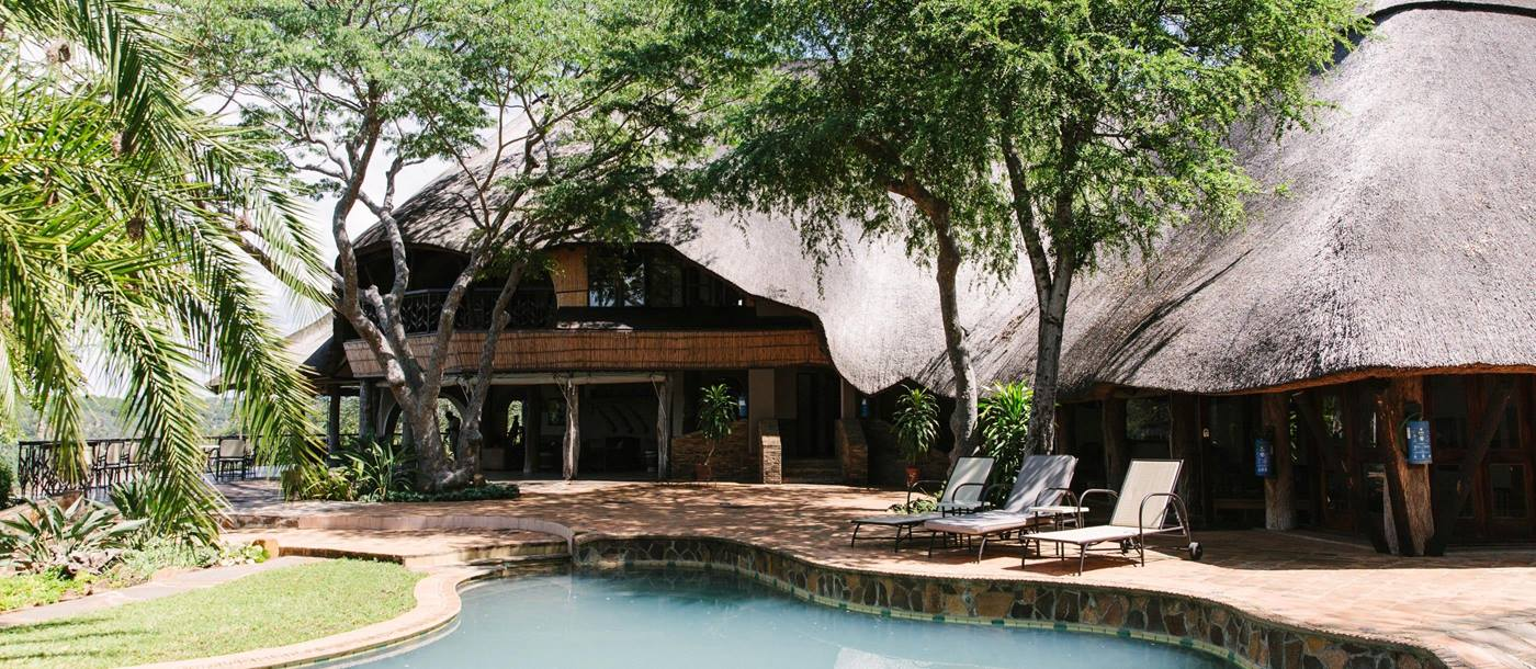 A lodge at Chilo Gorge