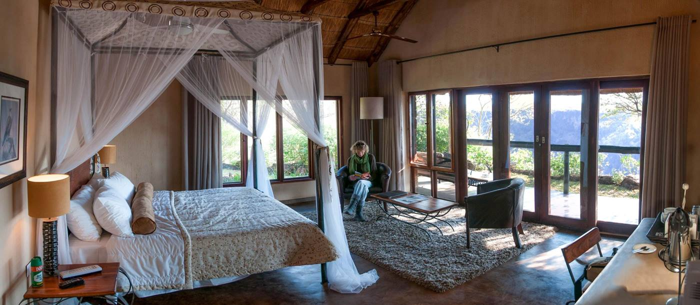 A bedroom at Gorges Lodge