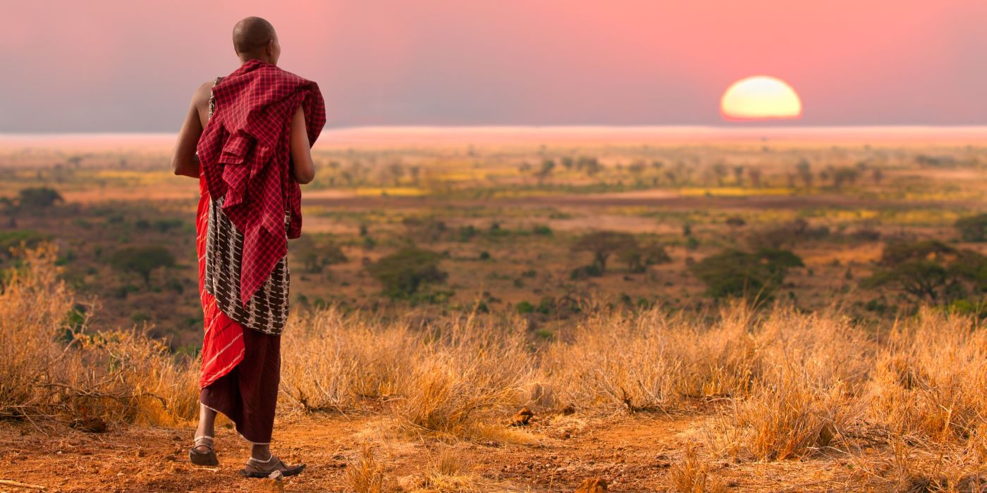 A Masai warrior in Kenya