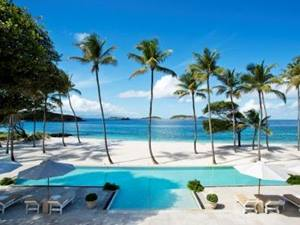 pool at palm beach villa in mustique, caribbean