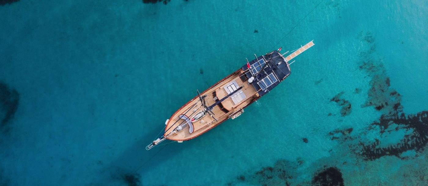 Birds eye view of Capricorn I in Croatia
