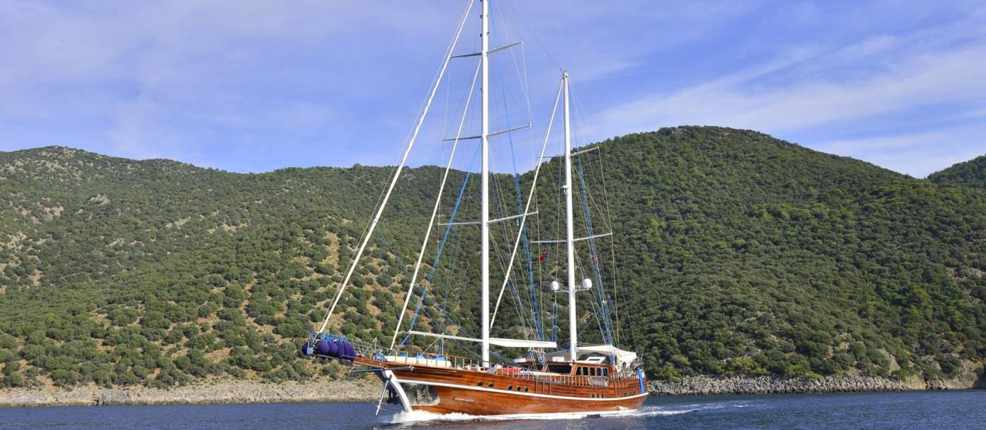 Lycian Queen out on water in Turkey