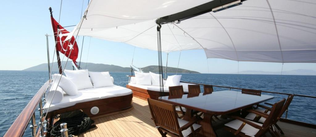 Deck on Gulet Princess Karia